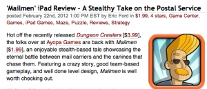 TouchArcade Mailmen iPad Review